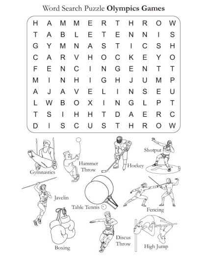 Word Search Puzzle Olympics Games | Download Free Word Search Puzzle Olympics Games for kids | Best Coloring Pages