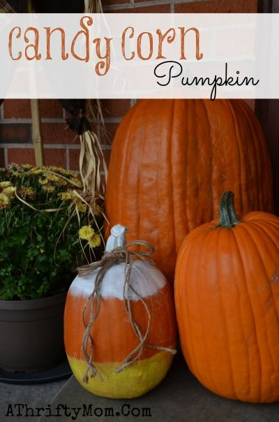 Candy Corn Pumpkin Easy Way To Decorate A Pumpkin Without