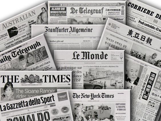 meet the world english through newspapers
