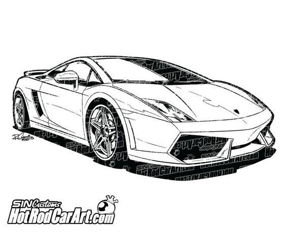 An41 Lamborghini Car Exotic White Art