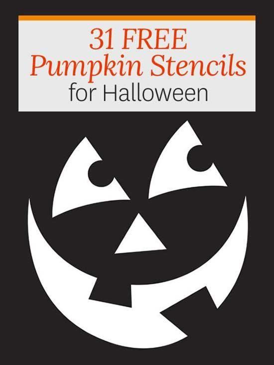 10 free scary halloween pumpkin carving stencils, patterns, ideas.