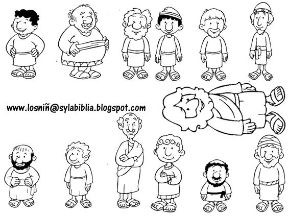 people following jesus coloring pages - photo#29