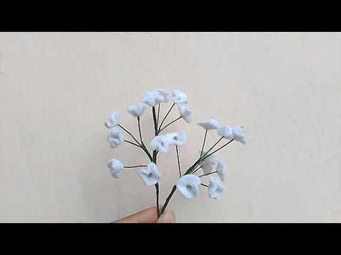 Diy How To Make Felt Baby Breath Cara Membuat Bunga Flanel Baby Breath Youtube Felt Flowers Felt Diy Felt Baby