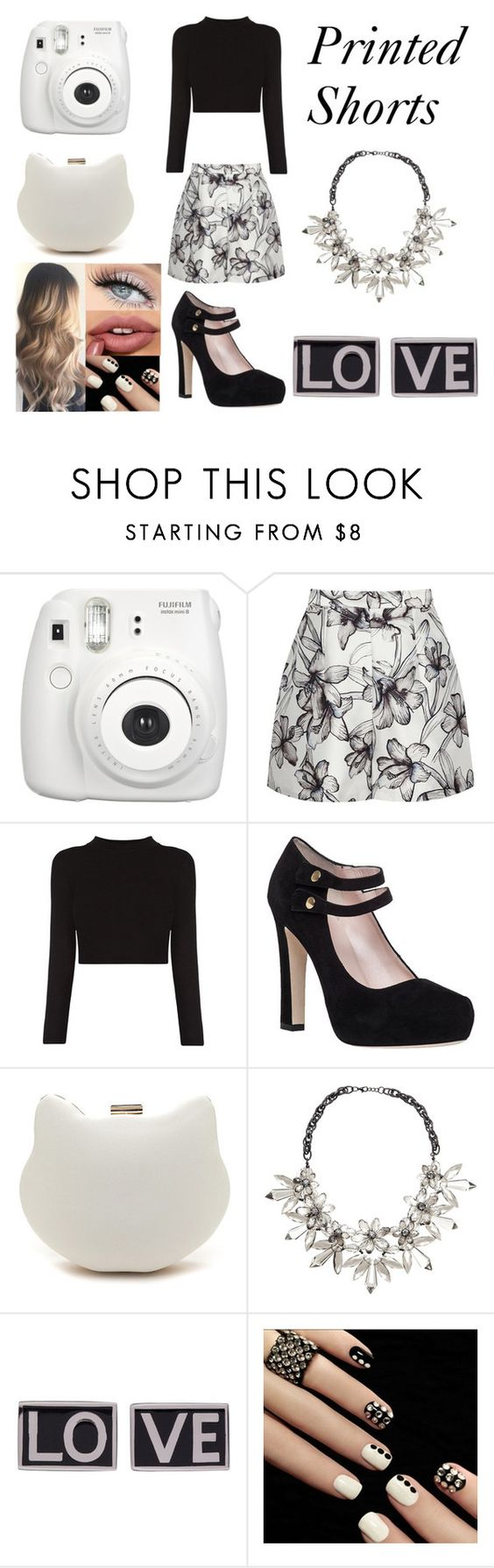 """""""Printed Shorts"""" by xcoordinatingfashionx ❤ liked on Polyvore featuring Fujifilm, Reiss, Kate Spade, John Lewis and Givenchy"""