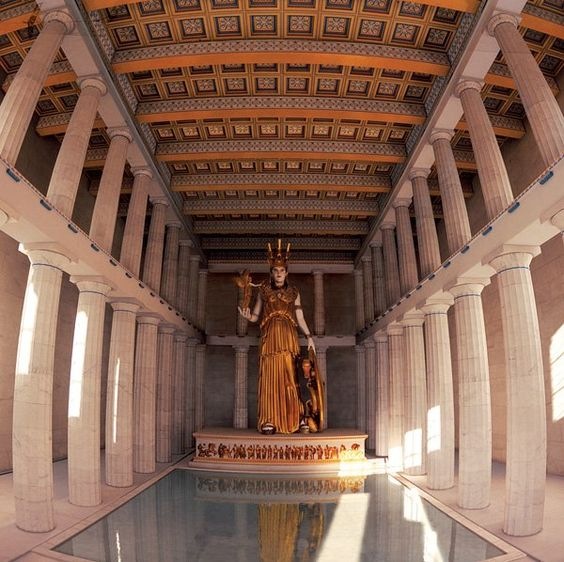 Interior of Parthenon 3D Reconstruction | Templos ...