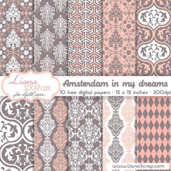 Free digital paper pack – Amsterdam In My Dreams Set - http://www.lianascrap.com/free-digital-paper-pack-amsterdam-in-my-dreams-set/