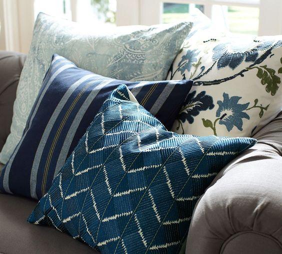Throw Pillows Spotlight : Phulkari Embroidered Chevron Pillow Cover Design Trend: Indigo Pinterest Spotlight, Spring ...