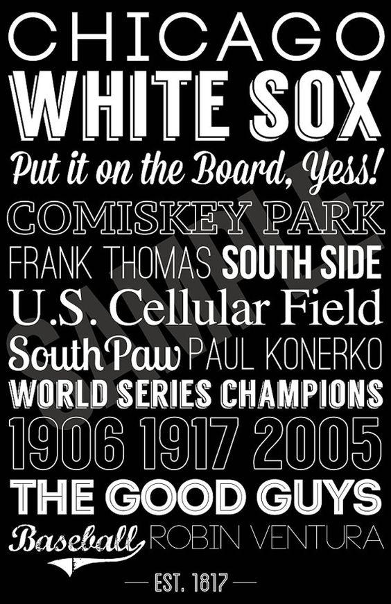 Chicago+White+Sox+Print+by+SarasPrints+on+Etsy,+$19.95