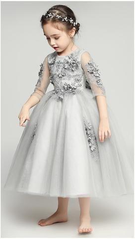 Floral Dress Gowns For Girls Dresses Kids Girl Flower Girl Gown