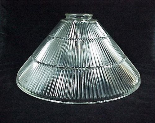 Replacement Glass Light Shades For Light Fixtures: Clear Glass Cone Pendant Light Shade In Prismatic