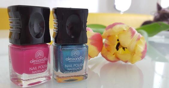 Alessandro - Electric Blue + Cosmic Pink Nailpolish Nagellack