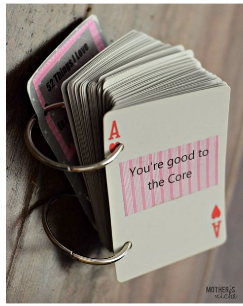 play cards with 'reasons why I love you' card deck