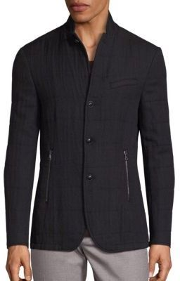 John Varvatos Slim-Fit Filled Virgin Wool Blend Jacket