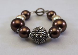 Chocolate Champagne Bracelet