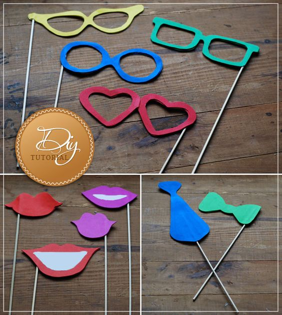 Diy Photo Booth Props, Diy Photo Booth And Photo Booth