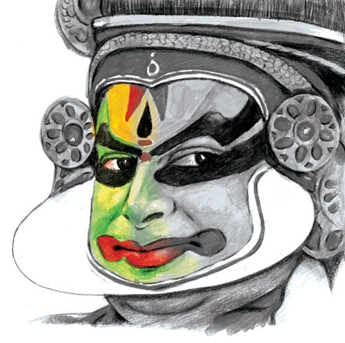 kathakali cartoons pictures illustrations - photo #33