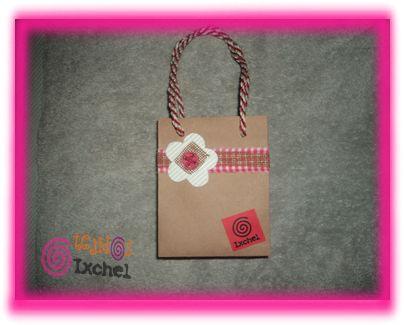Bolsa para regalo de papel craft ideas para boutique - Bolsa de papel para regalo ...