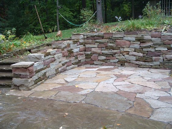 Retaining wall retaining wall for patio build design for Stone retaining wall design