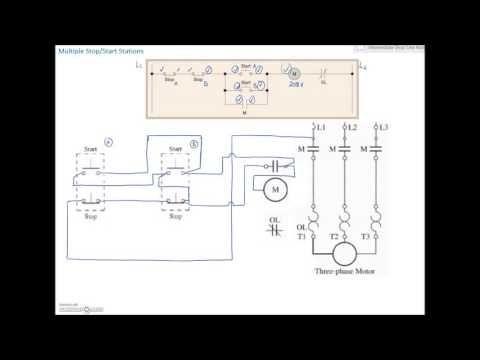 Ladder Diagram Basics 3 2 Wire 3 Wire Motor Control Circuit Youtube Ladder Logic Diagram Station