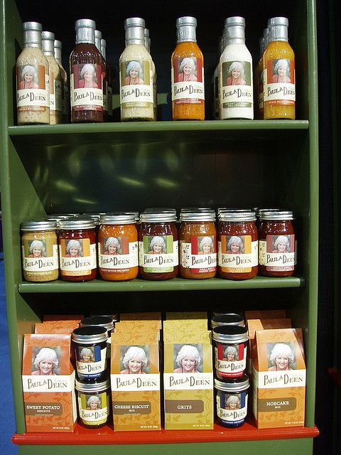 Paula Dean products at the Fancy Food Show