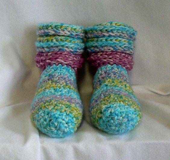 Crochet Slipper Socks for Women at MontanaTwirls.com