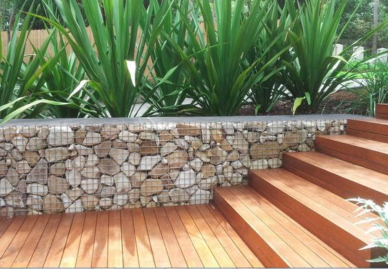 Another gabion wall project complete from http://gabionwallexpert.com