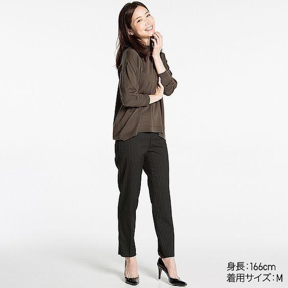 WOMEN エクストラファインメリノハイネックセーター(長袖) | UNIQLO