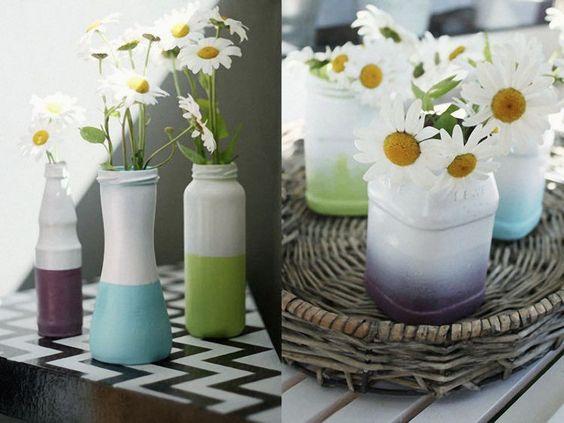 Tutoriel DIY: Les vases colorés upcycling via DaWanda.com
