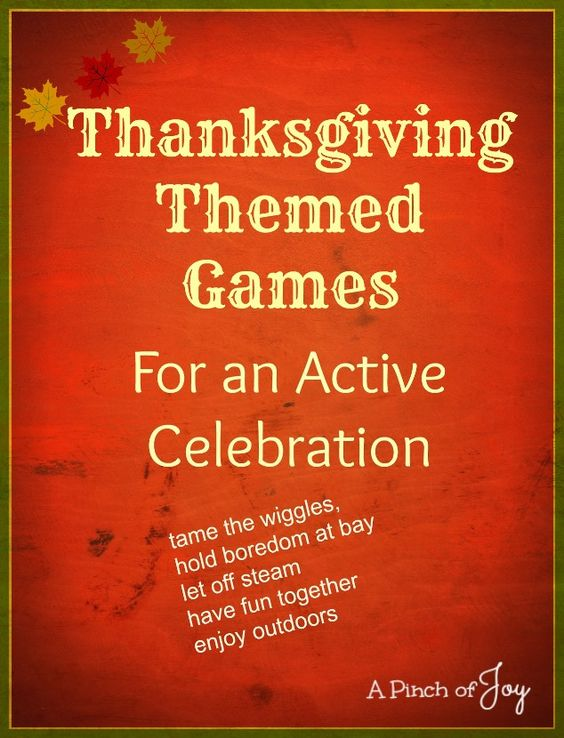 Thanksgiving Themed Games Family Activities Tradition