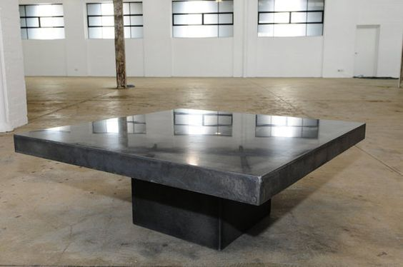 Modern Polished Concrete Square Coffee Table By Breuhaus On Etsy | Ideas  For Deco NEW | Pinterest | Polished Concrete, Square Coffee Tables And  Coffee ...