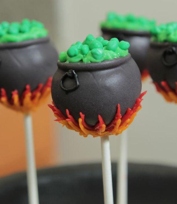 Cute little Cauldron Cake pops! courtesy of the ever so ...