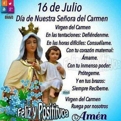 Pin De Mº Dolres Garcia Murillo En Virgen Del Carmen Dios