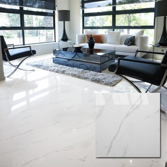 ceramic tile floor finish calara white