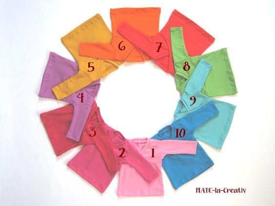 Hannah Langarmshirt uni - in 10 Farben zur Wahl  von © MABE la Creativ - KIDS auf DaWanda.com