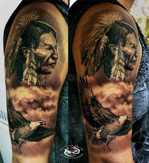 Tattoo Indian Full Arm Google Kereses Native American Tattoos American Tattoos Native Indian Tattoos