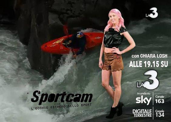 ARRIVA IN TV LA NUOVA STAGIONE DI #SPORTCAM ! Vi condurrò negli sport più estremi e rimarrete incollati al televisore! (da lun a ven h. 19:15 su La3 canale 134 DT - 163 SKY) Vi aspetto QUESTA SERA sempre più...coraggiosi! #ChiaraLosh #TV #tvprogram #la3 #la3tv #presenter #tvpresenter #sport #extreme #gopro #girl #video #actress #presentatrice #conduttrice #conduttricetv #pinkhair #pink #ootd #outfit #style #fashion #fit #fitness