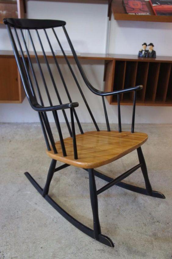 Schaukelstuhl Rockingchair 50er-60er Jahre Vintage, Ilmari Tapiovaara | eBay