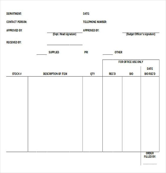 Blank Order Form Template u2013 34+ Word, Excel, PDF Document Download - blank resume download