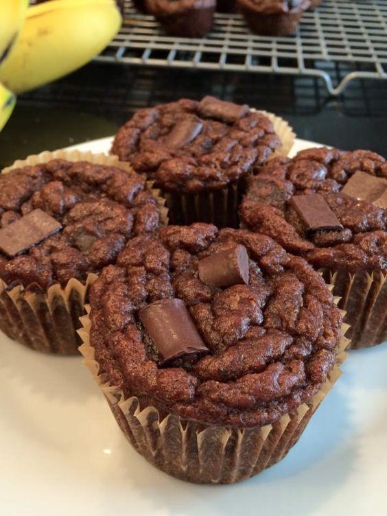 Paleo Double Chocolate Banana Muffins (or mini muffins)