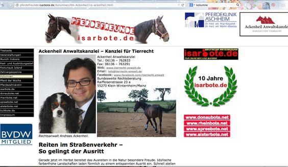 #Pferd #Recht #Pferdeanwalt - bundesweite Rechtsberatung - Tierrechtsexperte Anwalt Ackenheil - Experte Isarbote http://pferdeanwalt-pferderecht.de