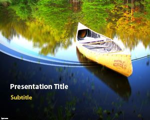 Free Canoe PowerPoint template is an awesome template of a canoe in lake with an awesome background design for PowerPoint presentations