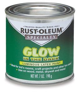 Here is the glow in the dark paint - use it on outside planters, fence posts, furniture, tree bases, poles, etc....the list is endless!