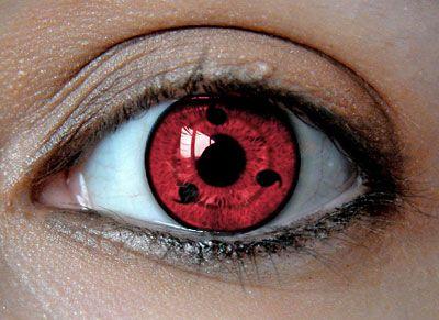 sharingan contact lenses! I was all like, wut?! TeriyakiBmo Pinterest Naruto, Anime and