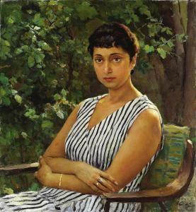 Vladimir Szerov - Portrait Of A művész felesége