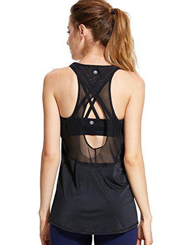 CRZ YOGA Femme Coton D/ébardeur Shirt sans Manches Corps de Sport Fitness Tank Tops