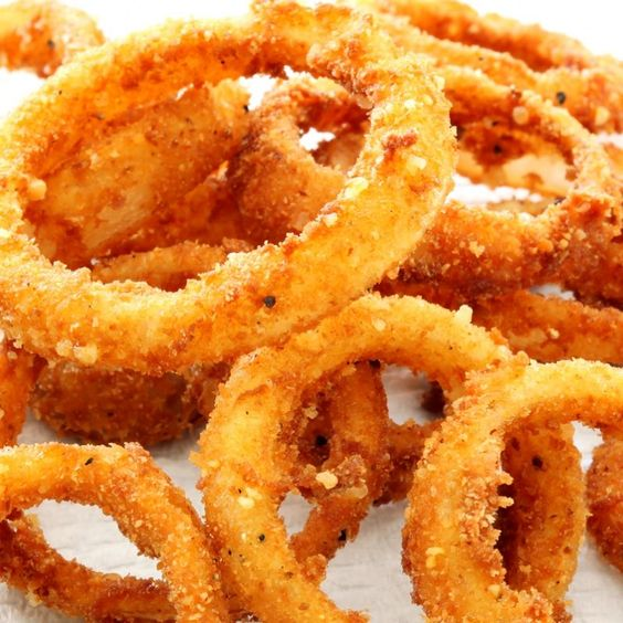 This oven onion ring recipe makes a crispy yummy appetizer that are great with the dip of your choice