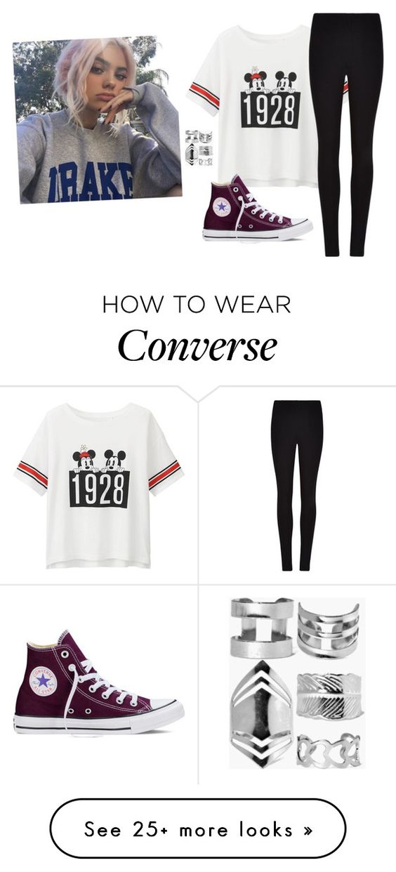 """""""RTD -Sarah"""" by we-are-all-anons on Polyvore featuring Uniqlo, Winser London, Converse and Boohoo"""