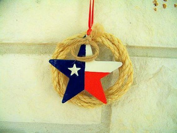 Texas Lone Star Christmas Ornament