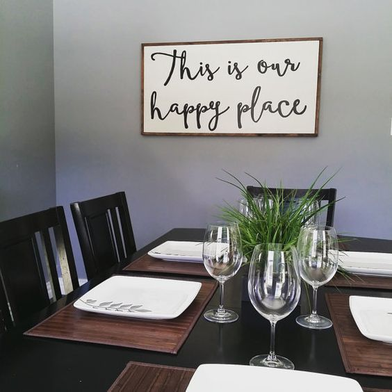 This is our happy place - wooden sign / large wooden sign by Lavish Olive Studios