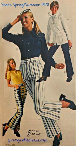 Tie dye pants! Striped pants! How groovy was Sears fashion in their Spring / Summer 1970 catalog?